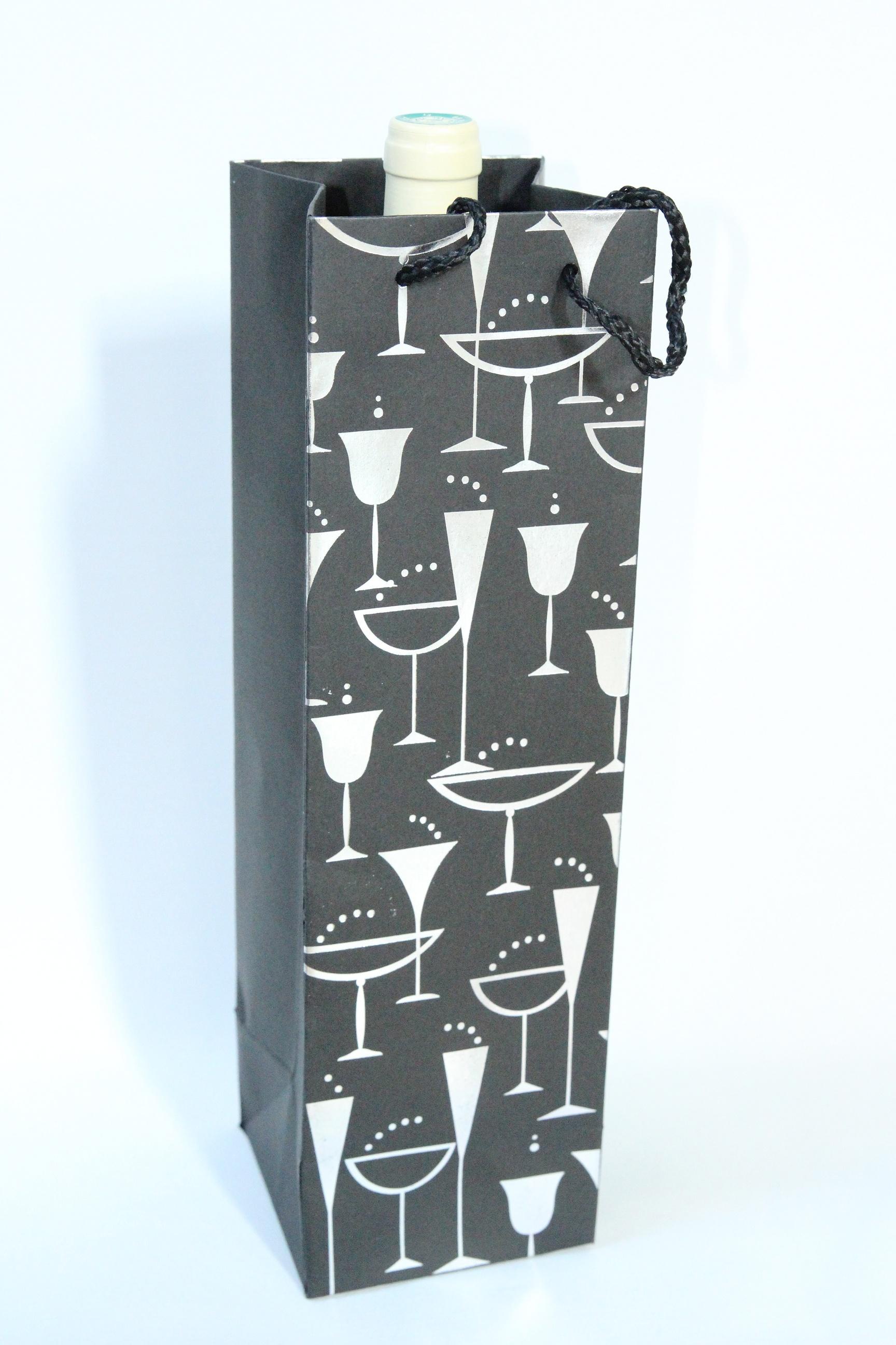 sac cadeau pour bouteille papier cadeau original. Black Bedroom Furniture Sets. Home Design Ideas