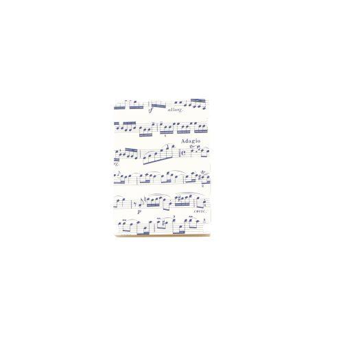 Bloc note musique avec Partition